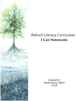 Bedrock Literacy Curriculum I Can Statements