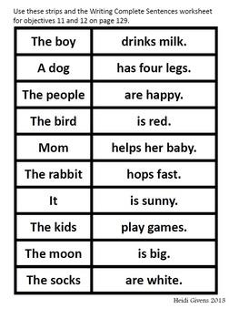 Bedrock Unit 11 Sentence Structure Materials