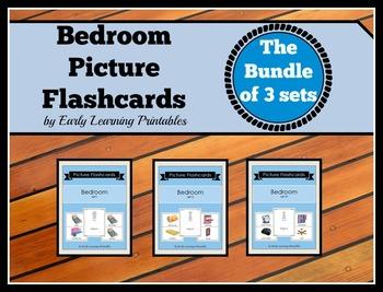Bedroom BUNDLE (Set I, II, III) Picture Flashcards