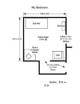 Bedroom scale drawing for Draw a floorplan to scale for free
