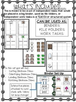 Bedroom Work Tasks or File Folders
