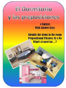 Bedroom Items and Prepositional Phrases Quiz