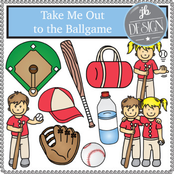 Take Me Out to the Ballgame (JB Design Clip Art for Personal or Commercial Use)