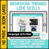 Bedroom Life Skills BOOM Cards™️ Speech Therapy Distance Learning