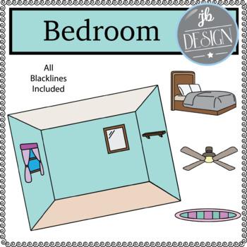 Bedroom Scene (JB Design Clip Art for Personal or Commercial Use)