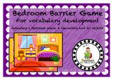 Bedroom Scene Vocabulary Development Barrier Game