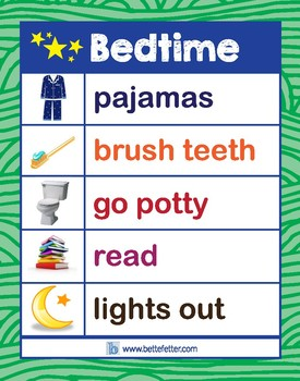 Bedtime Chart (Green)