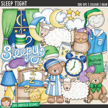 "Bedtime Clip Art: ""Sleep Tight"""