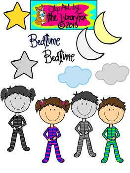 Bedtime Clip Art for Personal or Commercial Use