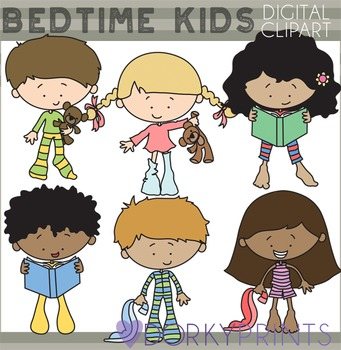 Bedtime Kids Clipart