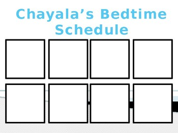 Bedtime Picture Schedule