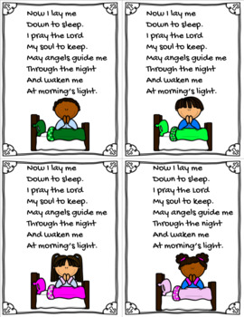 Bedtime Prayer Card
