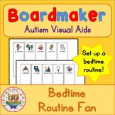 Bedtime Routine Fan - Boardmaker Visual Aids for Autism