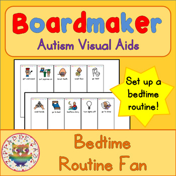 Bedtime Routine Fan - Boardmaker Visual Aids for Autism SPED