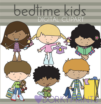 Bedtime Routine Kids Clip Art