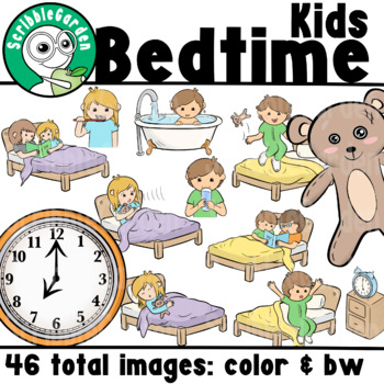 Bedtime Routines Children ClipArt