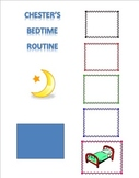 Bedtime and Morning Routine Visual Schedule (choice board) with pocket