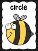 Bee 2D Shape Posters