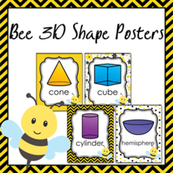 Bee 3D Shape Posters