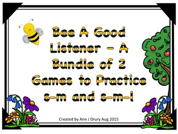 Bee A Good Listener - A 2 Game Bundle to Practice s,m and s,m,l