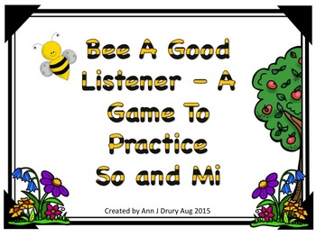 Bee A Good Listener - A Game for Practicing So and Mi