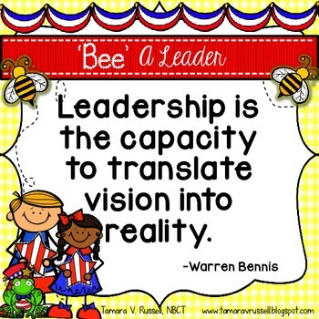 Bee A Leader: Quotes about Leadership for Kids and Teachers {FREEBIE}