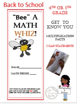 Math Back to School Packet for Grades 4-5""
