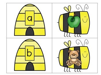 Bee ABC Card Matching Game