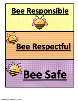 Bee All 3 Anchor Chart Headings~ FREEBIE!!!