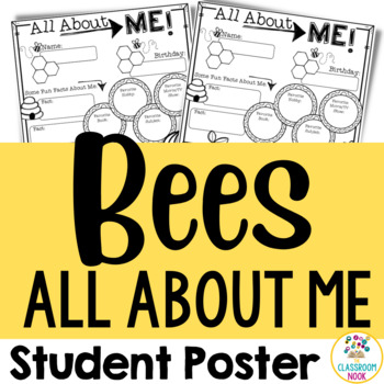 """Bee Theme:  """"All About Me"""" Poster"""