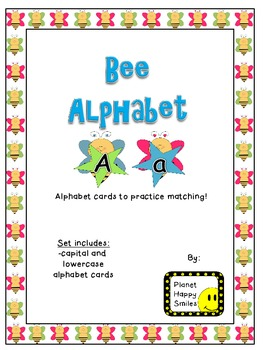 Alphabet Matching Cards ~ Bee Theme