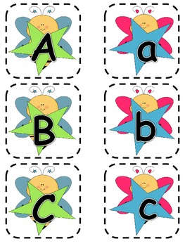 Alphabet Matching Cards ~ Bee Theme