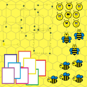 Bee Clip Art and Borders