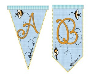 Bee Attitude Banner Letters