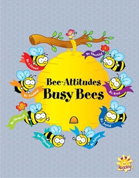 Bee Attitudes Busy Bees Bulletin Board Pieces