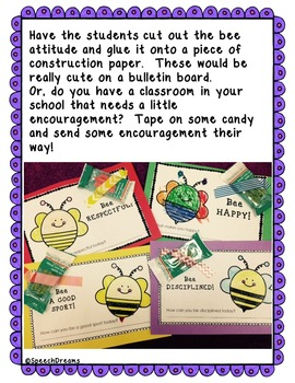 Character Development Craft {Bulletin Board Guidance or Classroom Activity}