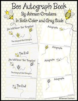 Bee Autograph Book
