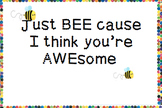 Bee Awesome Postcard- Positive Behaviour Bee and Eric Carle theme