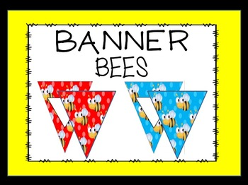 EDITABLE Bee Bunting/Banner