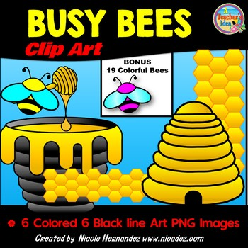 Bee Basics Clip Art for Commercial Use