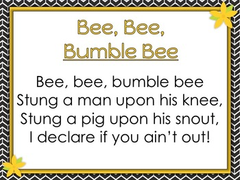 Bee Bee Bumble Bee - Steady Beat Vs. Rhythm - Ta & Ti-ti