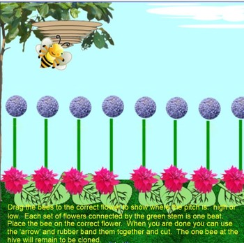 Bee Bee Bumble Bee~so-mi~beat~ta, ti-ti~ Smartboard~Traditional Game Song
