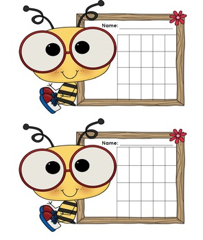 Incentive Chart with a Bee Theme