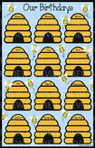 Bee Birthday Chart