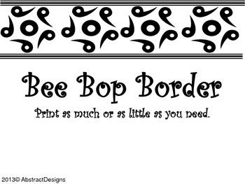 Bee Bop Border