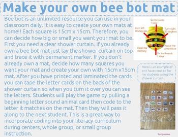 Coding Bee Bot Animal Beggining Letter Sounds