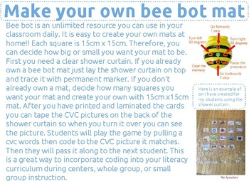 Coding Bee Bot CVC Short U Words