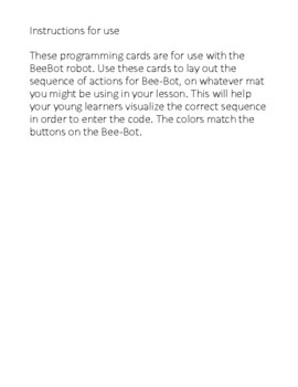Bee-Bot Coding/ Command Cards