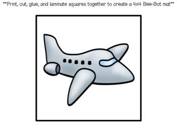 Bee-Bot Decoding (short e) Activity Mat