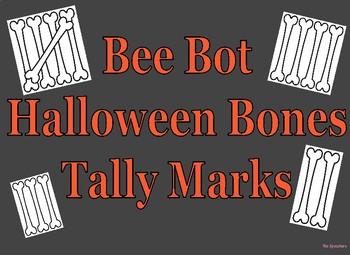 Coding Bee Bot Halloween Tally Mark 1-15